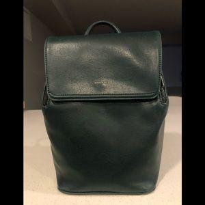 Matt & Nat Green Mini Fabi Vegan Leather Backpack